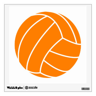 Orange and White Volleyball Room Graphic