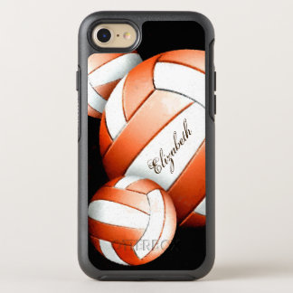 Orange and white volleyballs women's OtterBox symmetry iPhone 7 case