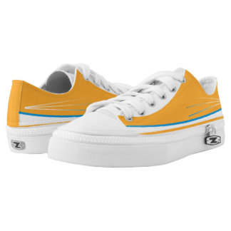 Orange and White with Powder Blue Trim Tres Lo-Top Printed Shoes