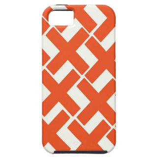 Orange and White Xs iPhone SE/5/5s Case