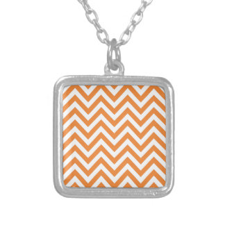 Orange and White Zigzag Chevron Pattern Necklaces