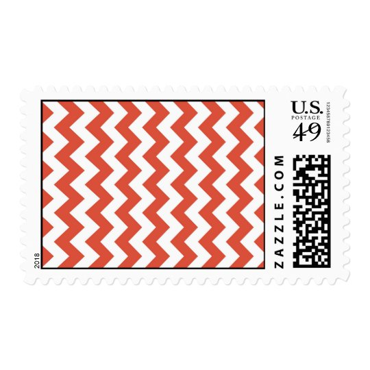 Orange and White Zigzag Postage