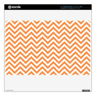 Orange and White Zigzag Stripes Chevron Pattern Decal For The MacBook Air