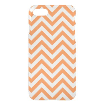 Halloween Themed Orange and White Zigzag Stripes Chevron Pattern iPhone 7 Case