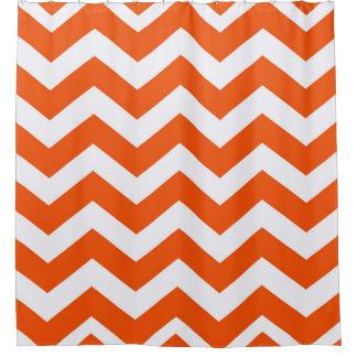 Orange And White Zigzags Shower CurtainOrange And White Chevron Shower  Curtains Zazzle  Orange Shower Curtain