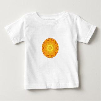 Orange and Yellow Abstract Round Kaleidoscope Baby T-Shirt