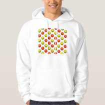 Orange and Yellow Basketball Pattern Hoodie