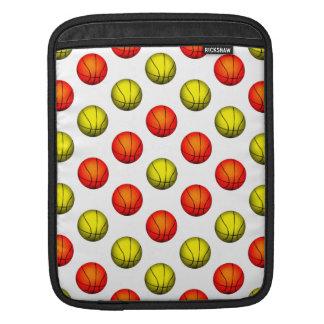 Orange and Yellow Basketball Pattern iPad Sleeves