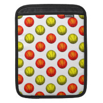 Orange and Yellow Basketball Pattern Sleeve For iPads