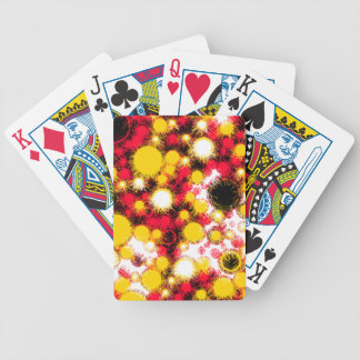 Orange and yellow bubbles bicycle playing cards