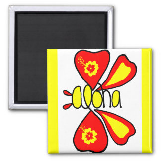 Orange and yellow butterfly magnet