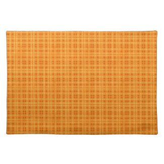 Orange and Yellow Checks placemat