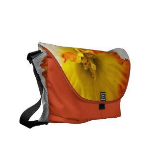 Orange and Yellow Daffodil Spring Medium Messenger Messenger Bags
