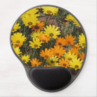 Orange and Yellow Daisies Gel Mouse Pad