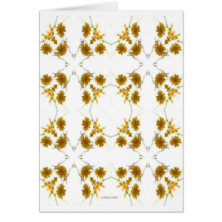 orange and yellow fall colored wildflowers 16 up card