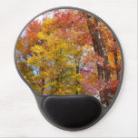 Orange and Yellow Fall Trees Autumn Photography Gel Mouse Pad