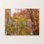 Orange and Yellow Fall Trees Autumn Photography Jigsaw Puzzle