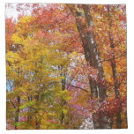 Orange and Yellow Fall Trees Autumn Photography Napkin