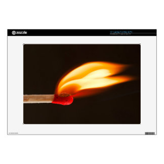 """Orange and yellow fire flame decals for 15"""" laptops"""