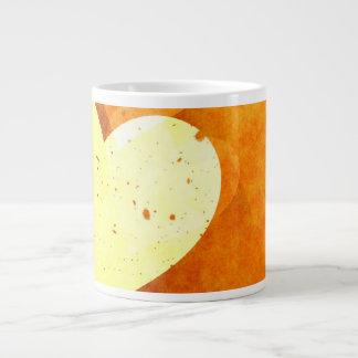 Orange and Yellow Floating Hearts Giant Coffee Mug