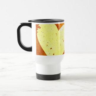 Orange and Yellow Floating Hearts Travel Mug