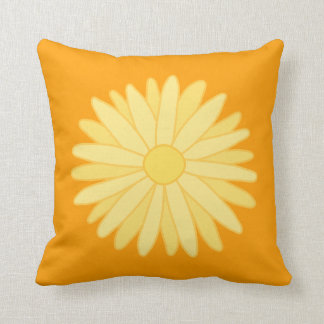 Orange and Yellow Floral Design. Throw Pillow