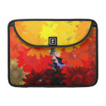 Orange and yellow floral MacBook pro sleeves