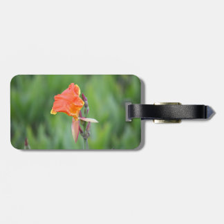 orange and yellow florida flower travel bag tag