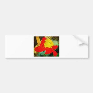 Orange and Yellow Flower Bumper Sticker