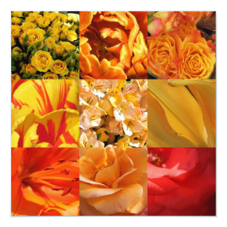 Orange and yellow Flowers Card