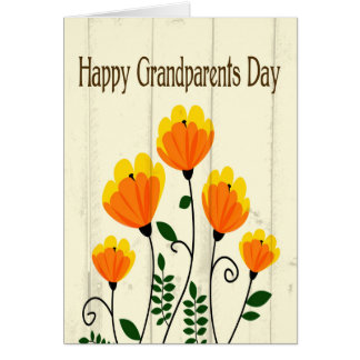 Orange and Yellow Flowers for Grandparents Day Card