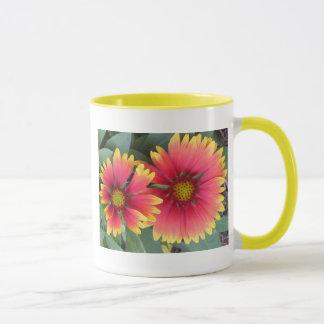 Orange and Yellow Flowers Mug