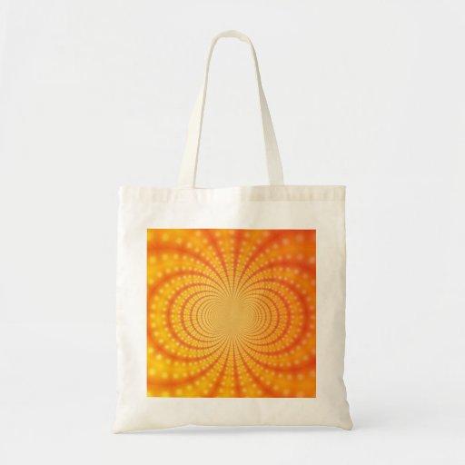 Orange and Yellow Fractal Art Budget Tote Bag