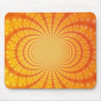 Orange and Yellow Fractal Art Mouse Pads