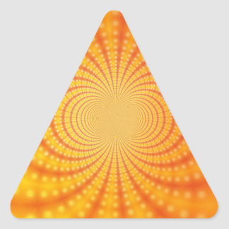 Orange and Yellow Fractal Art Triangle Sticker