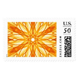 Orange and Yellow Fractal Pattern Postage