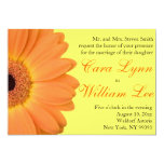 "Orange and Yellow Gerber Daisy Wedding Invitations 5"" X 7"" Invitation Card"