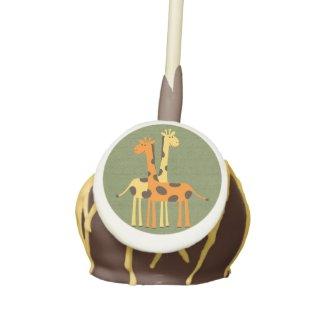 Orange and Yellow Giraffe Baby Shower Cake Pops