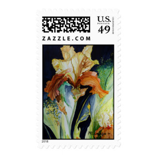 Orange and Yellow Iris Postage