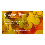 Orange and Yellow Johnny Jump Up Business Card