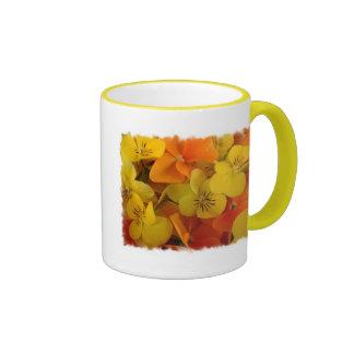 Orange and Yellow Johnny Jump Up Coffee Mug