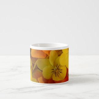 Orange and Yellow Johnny Jump Ups Specialty Mug Espresso Cup