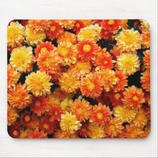 Orange and Yellow Mums Mouse Pad