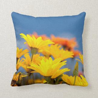 Orange And Yellow Namaqualand Daisies Throw Pillow