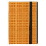 Orange and Yellow Plaid Cover For iPad Mini
