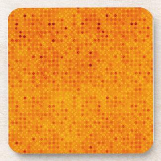 Orange and Yellow Polka Dots Beverage Coaster