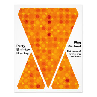 Orange and Yellow Polka Dots Flyer Design