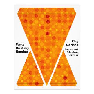 Orange and Yellow Polka Dots Flyer