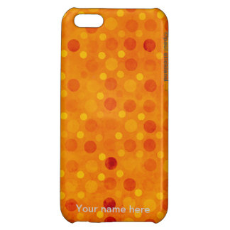 Orange and Yellow Polka Dots iPhone 5C Covers