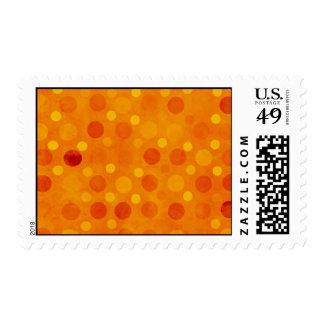 Orange and Yellow Polka Dots Stamp